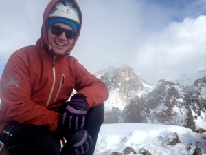On the Summit of Amangeldi Peak last October