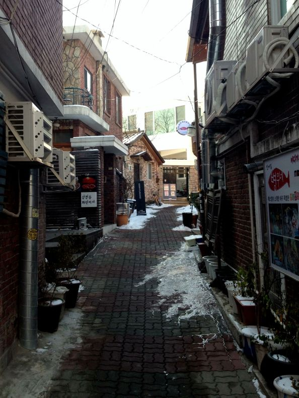 One of the many small streets of Samcheong-dong