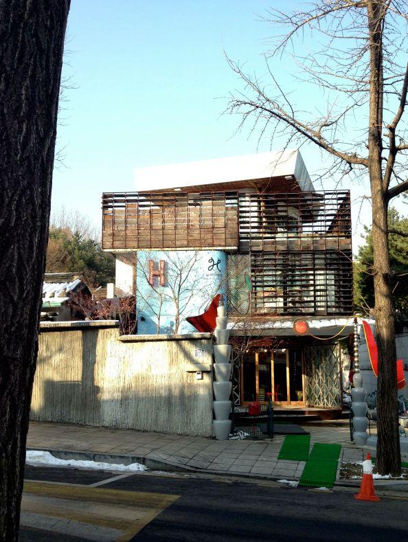 Modern building in Samcheong-dong