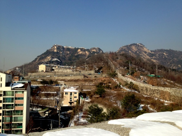 Mt. Inwangsan from the Fortress Wall Trail