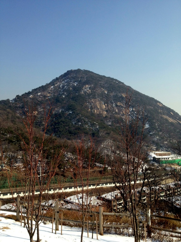 Mt Bugaksan from the Fortress Wall Trail