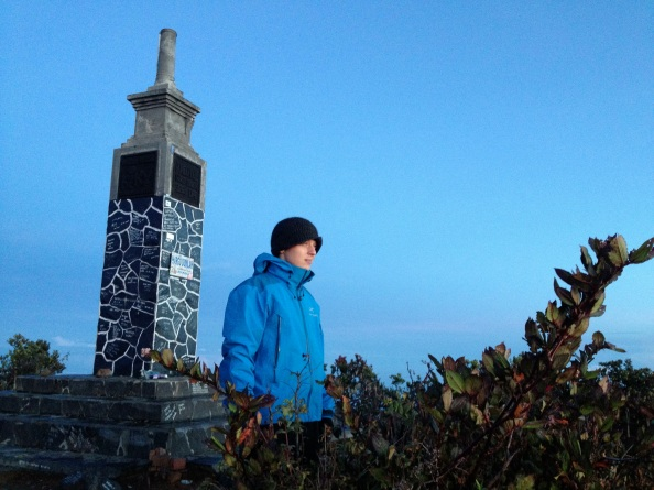 John and the Summit Marker