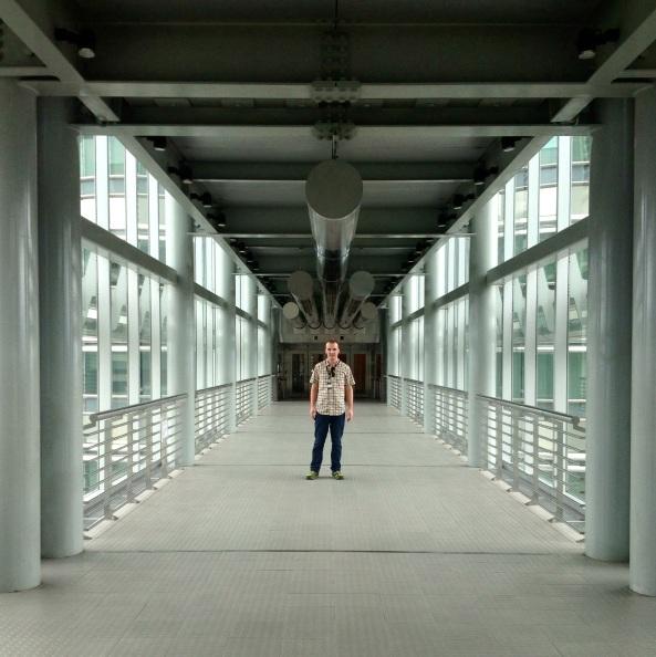 Your author on the bridge