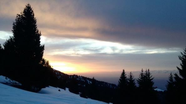 Sunset from Jalpak Tash