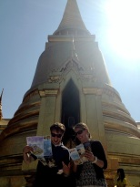 John and Rosie in front of the Golden Palace