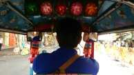 On board the tuk-tuk