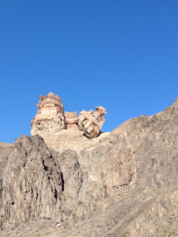 This rock on the hill reminded me of a cross between a boat anchor and an Imperial Starship from Star Wars