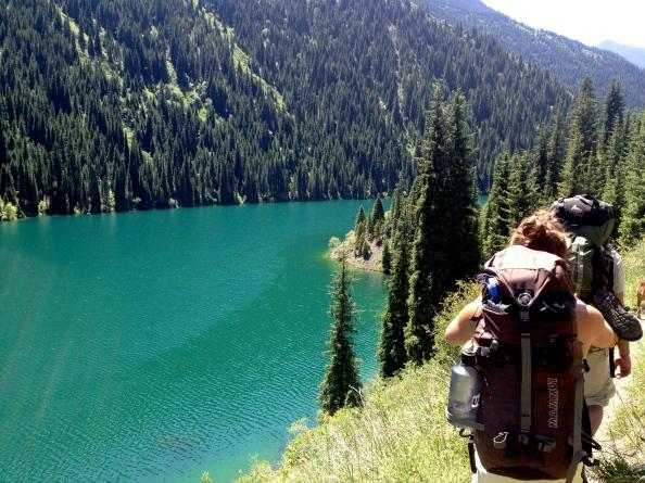 Trailing behind Mack above Lake 1