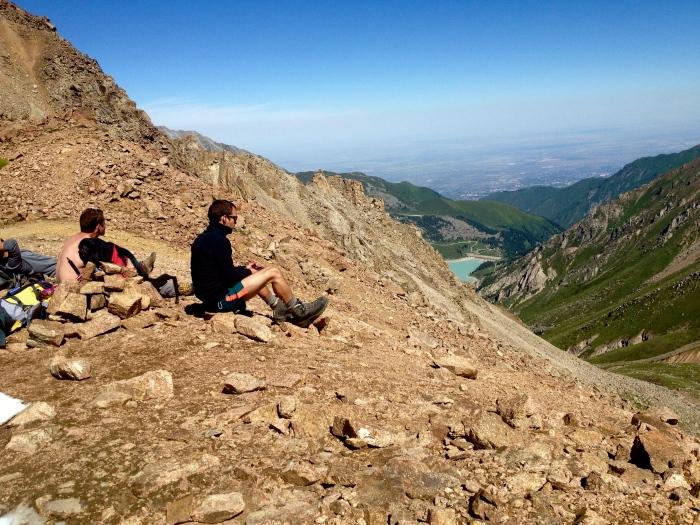 First Ridge with Big Almaty Lake below