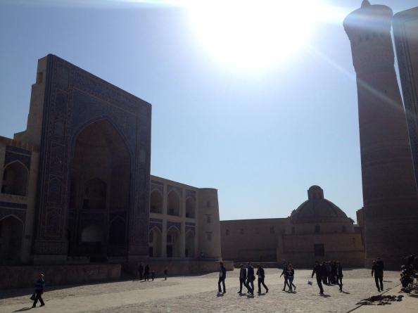 Looking at the Mir-i-Arab Medressa