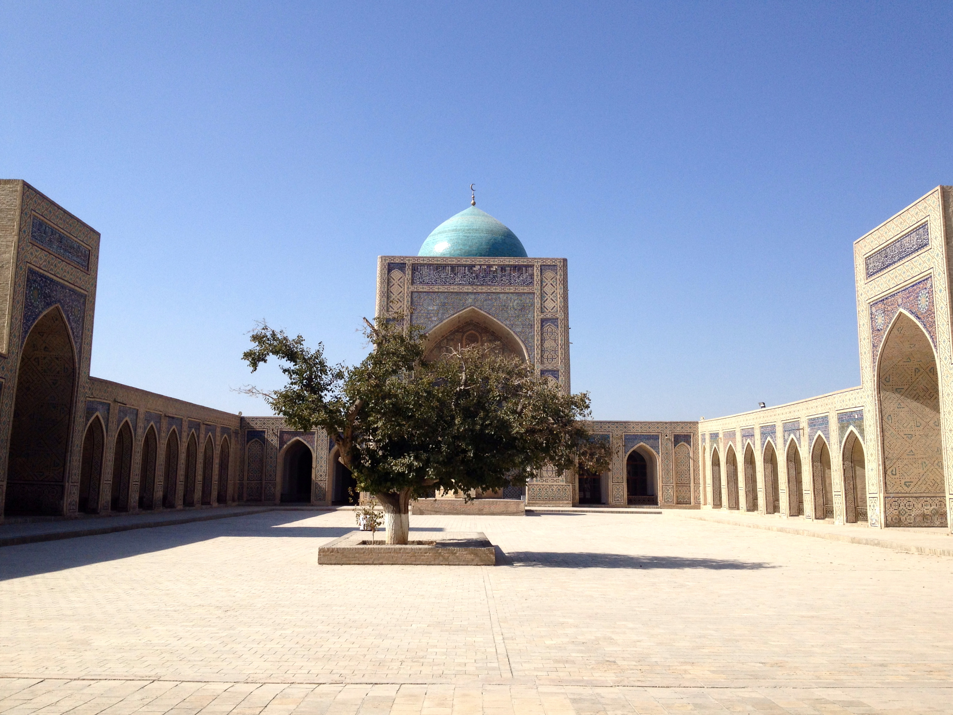 The courtyard of the Kalon Mosque