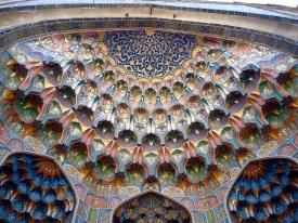 Painted Entrance of the Abdul Aziz Khan Medressa
