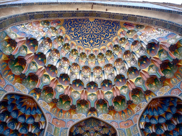 Painted Entrance of the Abdul Aziz Khan Medressa