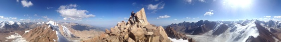 Panorama from the summit. For an interactive version of this photo, click on it