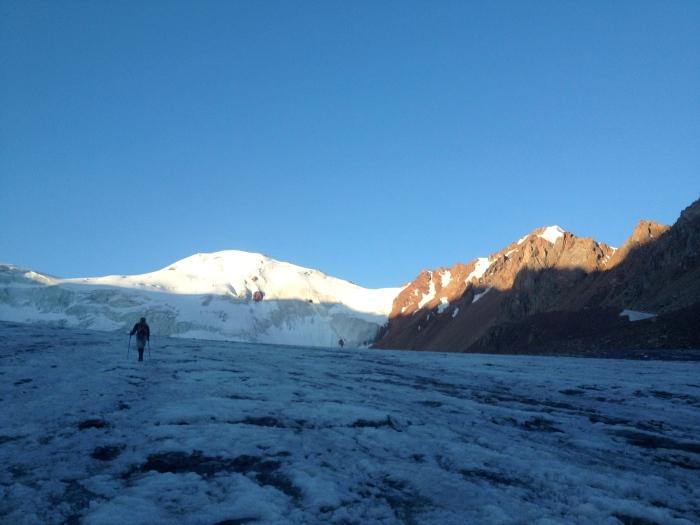 Matt on Tuyuksu Glacier