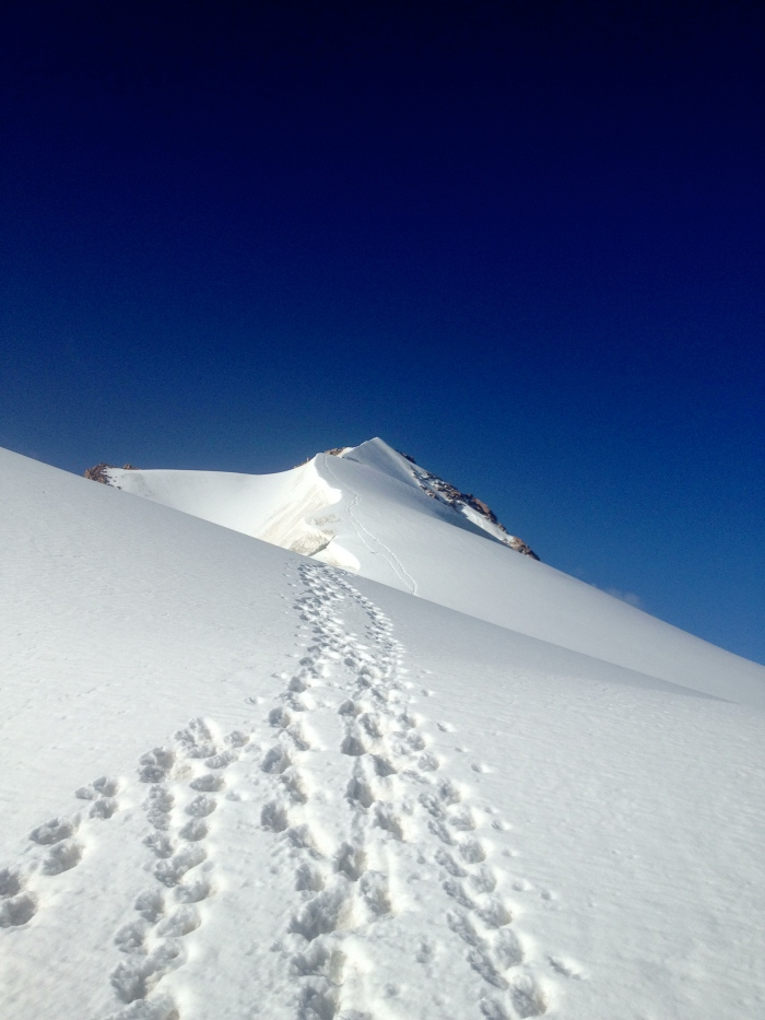 Ice-capped summit