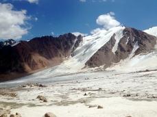 The Tuyuksu massif from Tuyuksu glacier
