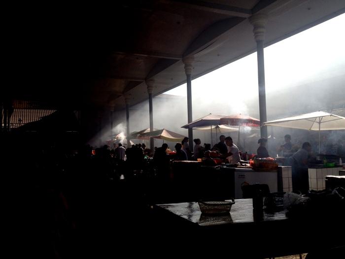 The Chorsu Cafeteria under a shashlik smoke-screen