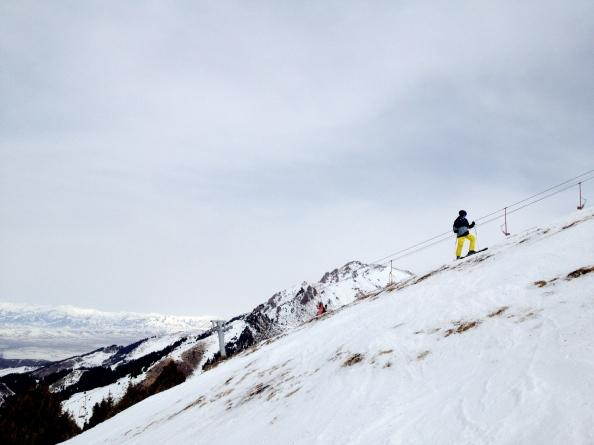 Alex checking out Karakol Ski Base