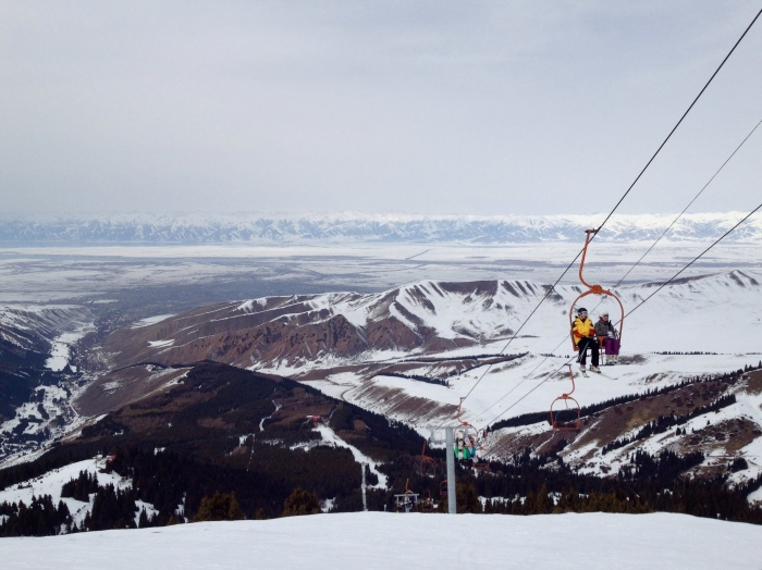 Karakol Ski Base. Great views of Lake Issuk-Kul...