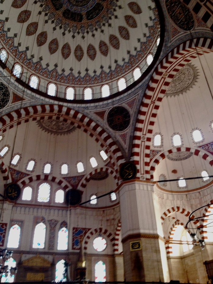 Inside the Sehzadebasi Mosque