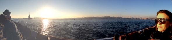 Dav and the sunset from Üsküdar