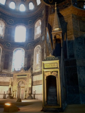 Imam's preaching point in the Hagia Sophia