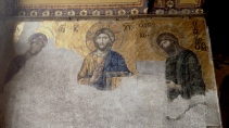 Jesus on a wall in the Hagia Sophia