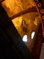 Jesus mural in the Hagia Sophia