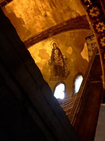 Jesus mural in the Hagia Sophia