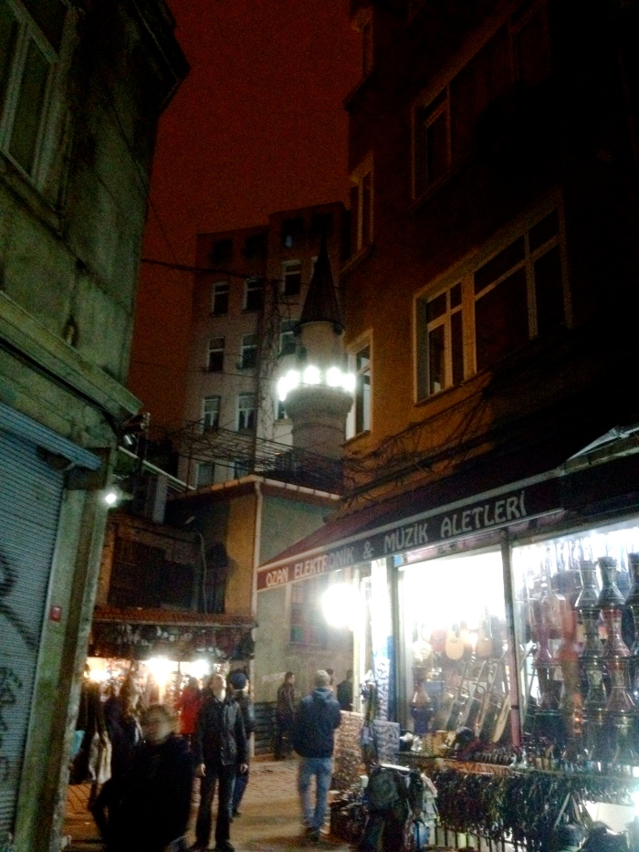 Small street between Galata and Istiklal Avenue