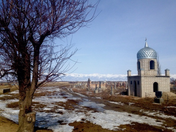 Islamic Cemetery along the Karakol-Suu