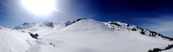 A view of the hike-to zones at Karakol Ski Base