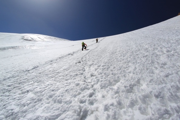 Chris and I on the way up. Photo: Matt