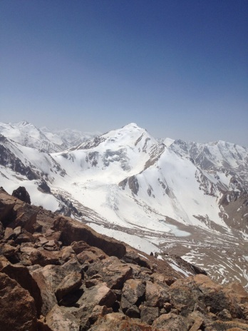 Peak of the Soviets from the Chicken Breast slope of Molodoshnye