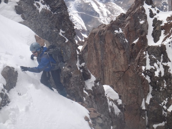 "Bjorn topping out on the first ""tricky"" bit"