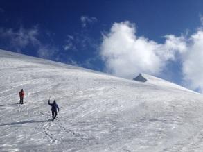 Chris and Bjorn coming down from Peak Karlytau