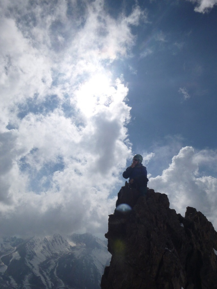 Divine Bjorn on the Summit of Panfilov Peak