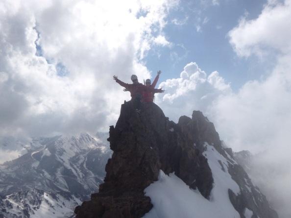 Chris and I on the Summit of Panfilov Peak. Photo: Bjorn