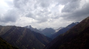 The view from the north side of Tor-Ashuu Pass above the Kara-Balta River