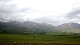 The Suusamyr Valley. It is a massive glacial valley that my photos hardly give credit.