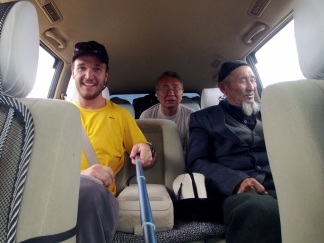 We are the road crew. Some of my taxi companions on the drive from Bishkek to Osh