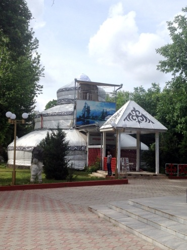 This Three Storied Yurt is a major tourist attraction in Osh...according to Lonely Planet