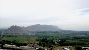 ...which led to this view of the Fergana Valley, which stretches into Uzbekistan. A great hill to run if you too have some time to kill in Osh.