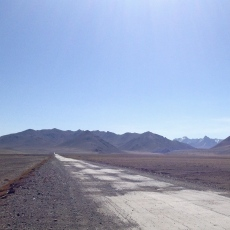 The huge landscape of the Gorno-Badakshan, and the poorly maintained road