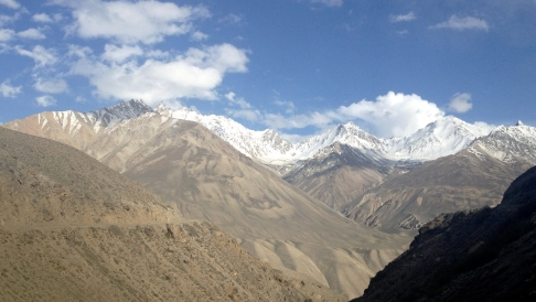 These mountains form the northern border of the Wakhan Corridor. I feel bad I only had an iPhone to take photos of them.