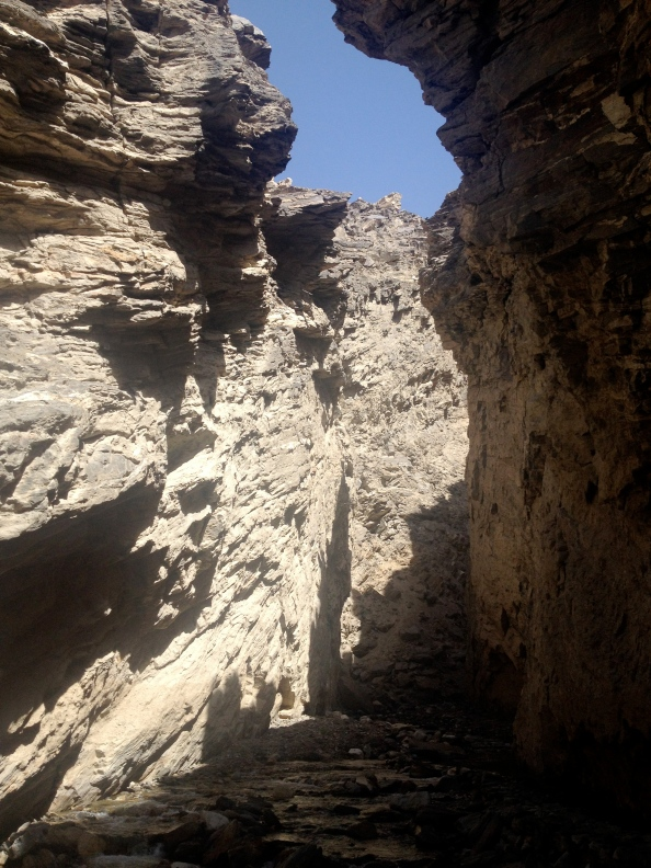Slot Canyon just beyond the Stupa