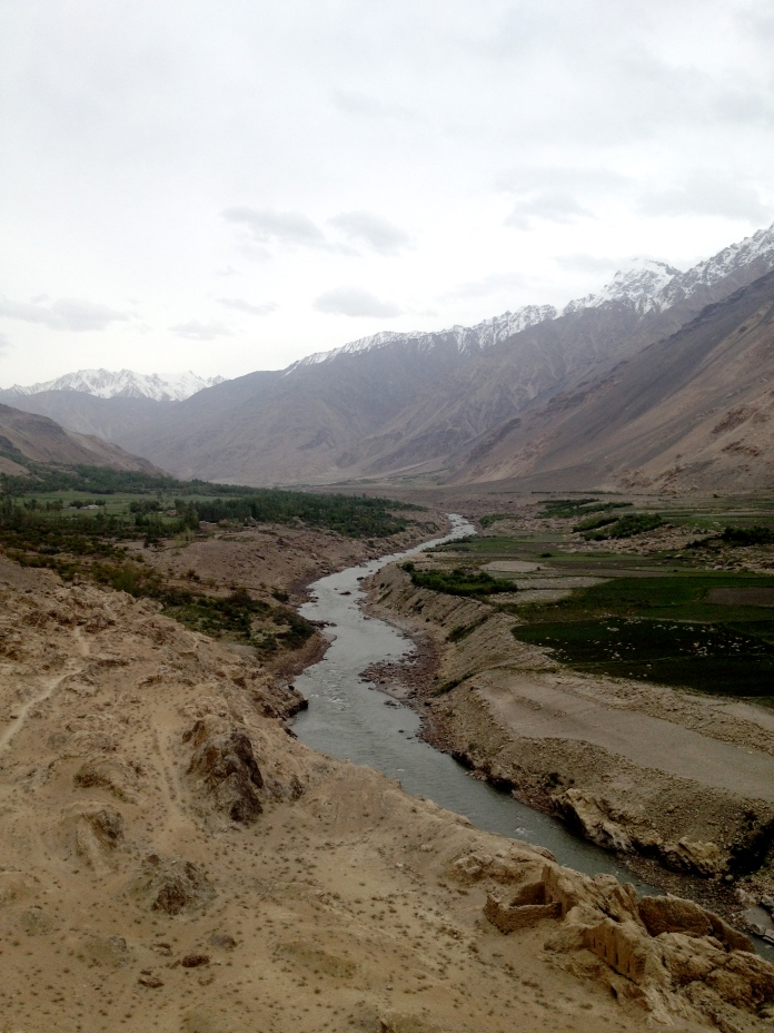 The mighty Pyanj River from the Kaakha Fortress