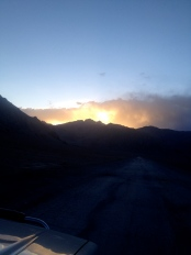 The sunset exploded for us just outside of Murghab