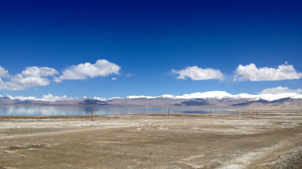 Approaching Lake Kara Kul from the south
